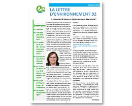 Lettre d'Environnement 92 – octobre 2020