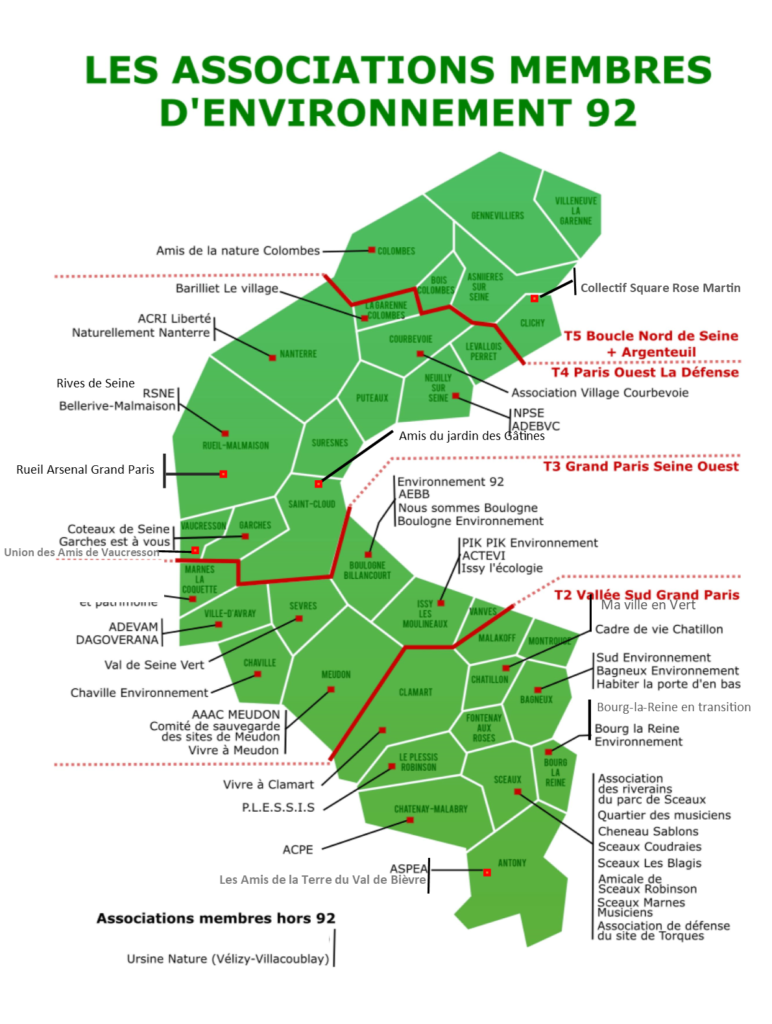 La carte des associations