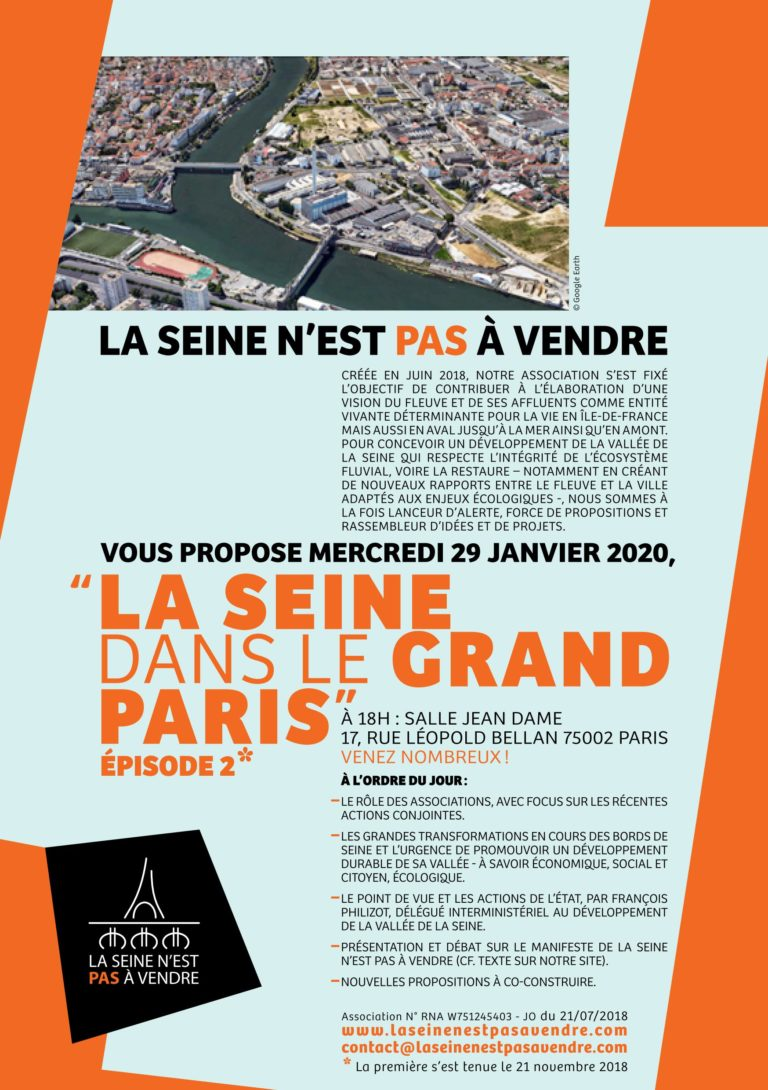 Read more about the article Soirée La Seine dans le grand Paris