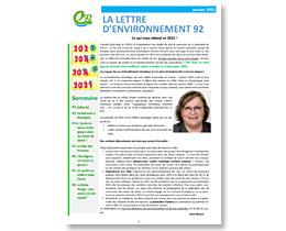 Lettre d'Environnement 92 Janvier 2021